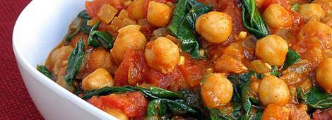 Curry de grão de bico com tofu defumado - Receita